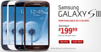 Black & Brown Samsung Galaxy S III now available through Verizon
