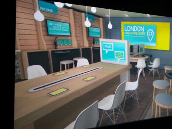 Larger EE retail locations will have refreshments, Wi-Fi, and displays separated by mobile OS.  Photo from Mobile News CWP