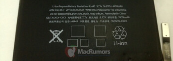 Alleged iPad mini battery revealed, holds 4490mAh of charge