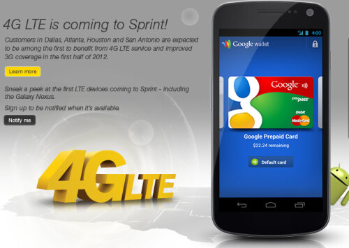 Sprint will be able to launch and expand its 4G LTE network faster
