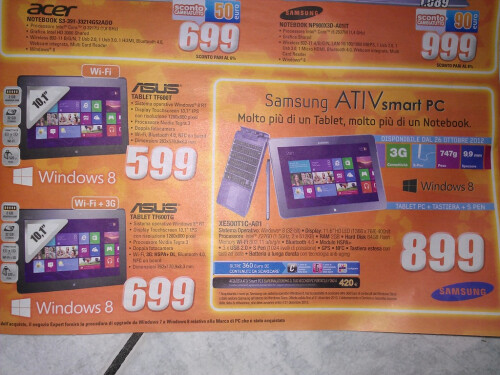 Tablets from ASUS and Samsung