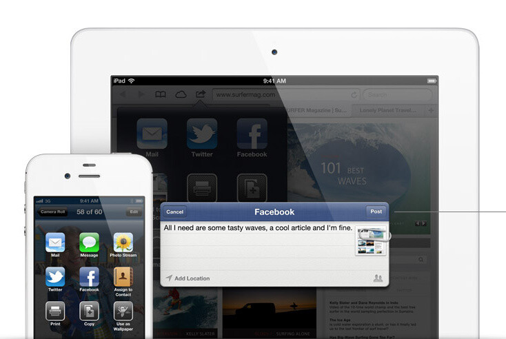iOS 6 comes with many new features, such as Apple Maps, Facebook integration, and more - iPad mini: what we think we know