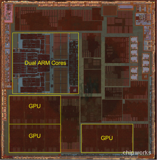 Apple A6's chip under the microscope