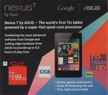 32GB Google Nexus 7 tablet surfaces in the U.K.