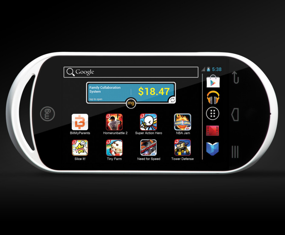 The MG Android gaming console - MG is a $150 Android gaming console ideal for junior to play with