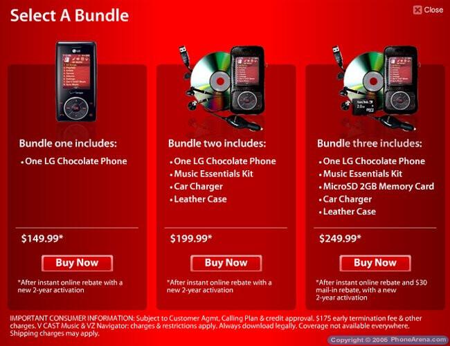 Verizon launches LG Chocolate