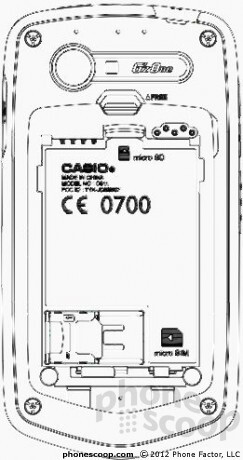 Casio C811 - LTE enabled Casio G'zOne smartphone for Verizon visits the FCC