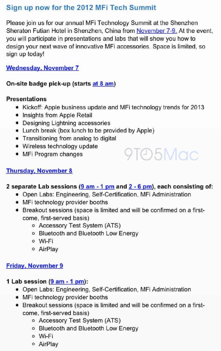 "Apple will host ""Made for i"" event on November 7-9"