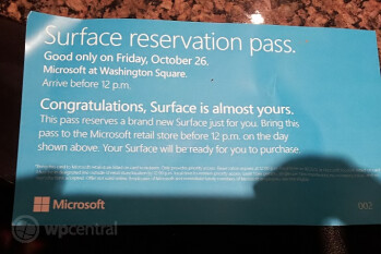 Surface tablets can be reserved in official Microsoft stores