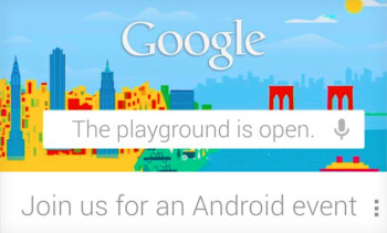 Google's invitation for its October 29th event