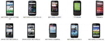 Motorola will give you $100 for any of these models, toward the purchase of a newer handset that supports Android 4.1