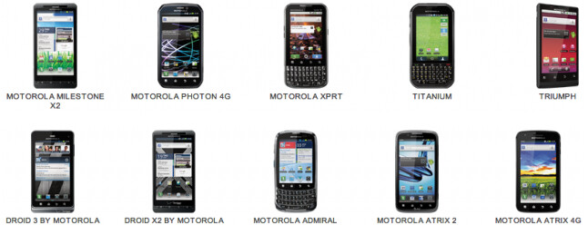 Motorola will give you $100 for any of these models, toward the purchase of a newer handset that supports Android 4.1 - Motorola releases list of its phones eligible for $100 gift card with trade-in program