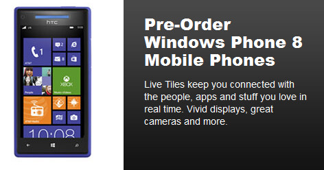 Two Windows Phone 8 models can be pre-ordered now on Best Buy's web site - Best Buy and AT&T price the Nokia Lumia 920 and HTC 8X; pre-orders accepted