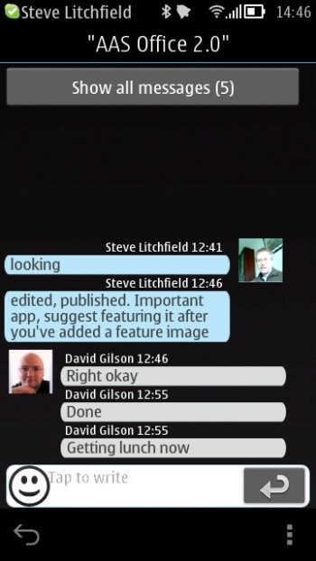 One last update to Skype is now available for Symbian Belle devices