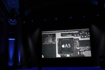 The iPad mini sports an Apple A5 chip