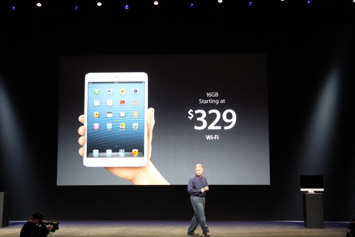 """The iPad mini starts at $329, pre-orders start on October 26""""&nbsp - iPad mini is officially announced"""