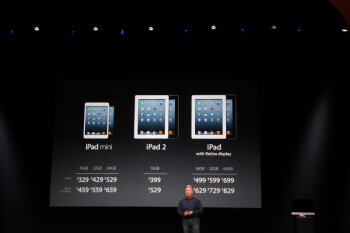 The iPad mini starts at $329, pre-orders start on October 26