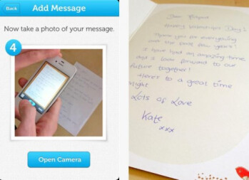 With Inkly, a handwritten card can be sent from your iOS device