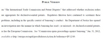 Apple's statement says the DOJ is after Samsung