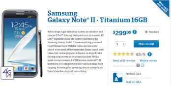 You can pre-order the Samsung GALAXY Note II from U.S. Cellular through Thursday