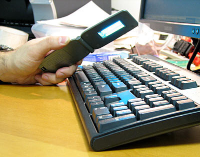 A UV disinfectant used to sanitize a keyboard - Our cell phones are covered with germs