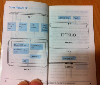 Leaked Users Manual for the Samsung Nexus 10 tablet