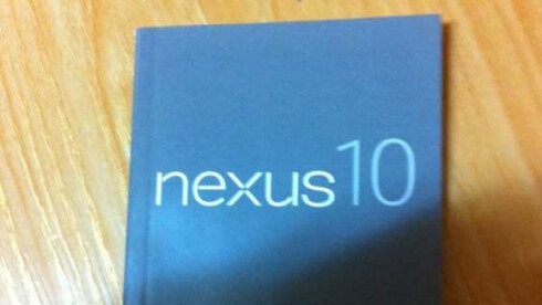The Nexus 10 manual leaked out, all but confirming its existence.