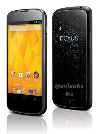 Rendering of the LG Nexus 4