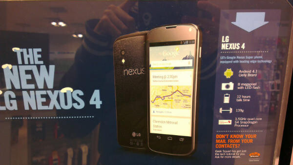 Some of the promotional materials that reveal Android 4.1 on the LG Nexus 4 - Carphone Warehouse promotional materials reveal LG Nexus 4 will have Android 4.1 on board