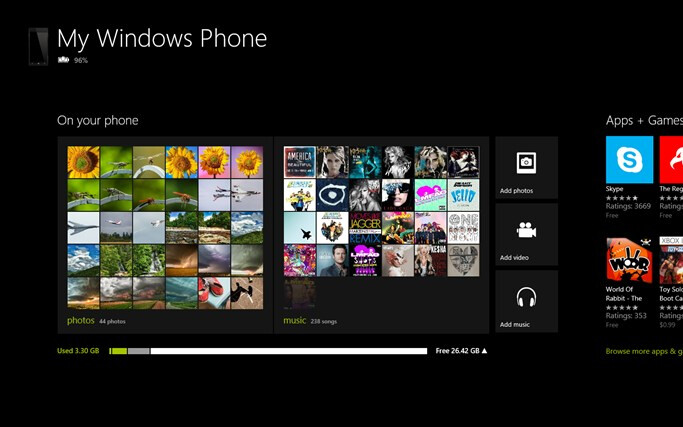 The Windows Phone app lets you switch music, video and pictures back and forth from your phone to PC or Microsoft Surface tablet - Windows Phone app lets your PC or Microsoft Surface work with your Windows Phone 8 device