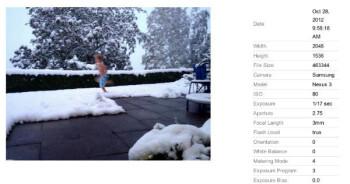 Samsung Nexus 3 photo samples appear on Picasa