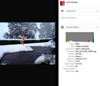 Samsung Nexus 3 photo samples appear on Picasa