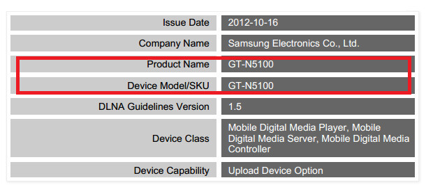 A new Galaxy Note is on the way, hints DLNA certification