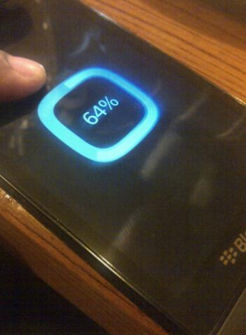This is allegedly the boot up screen for BlackBerry 10