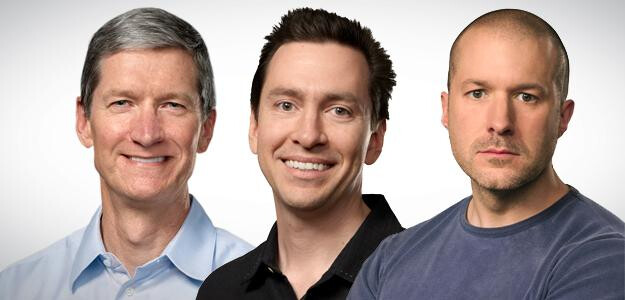 Cook, Forstall, and Ive. - Forstall ousted for refusing to sign Apple Maps apology, Jony Ive takes over all Apple design: what does this mean for Apple?