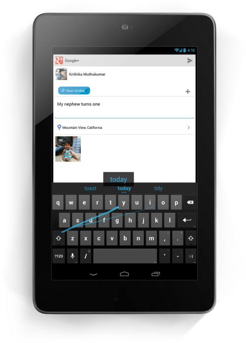 Gesture Typing: Google's take on Swype
