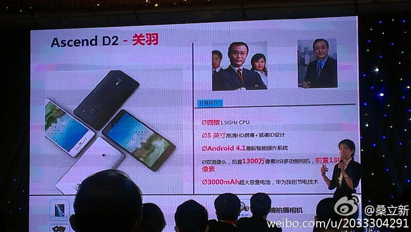 Huawei Ascend D2 is announced with 5-inch HD screen, quad-core CPU, coming in 2013
