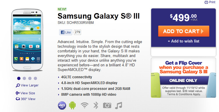 The Samsung Galaxy S III is now available at MetroPCS - MetroPCS makes $193 million in Q3