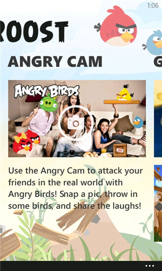 Angry Birds Roost is exclusive to Nokia Lumia models