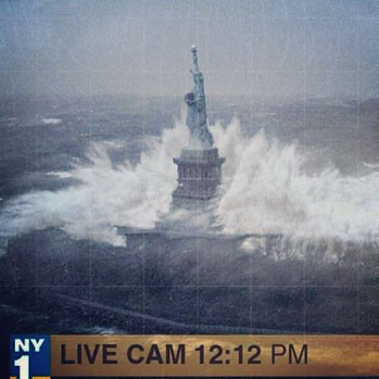 Hurricane Sandy inflicted damage on New York and New Jersey