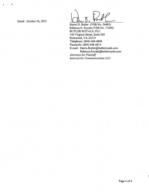 Intercarrier Communications v. Apple