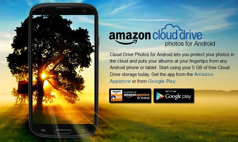 Amazon's new app gives you 5GB of free photo storage - Send the pictures on your Android device to the cloud with Amazon's new app