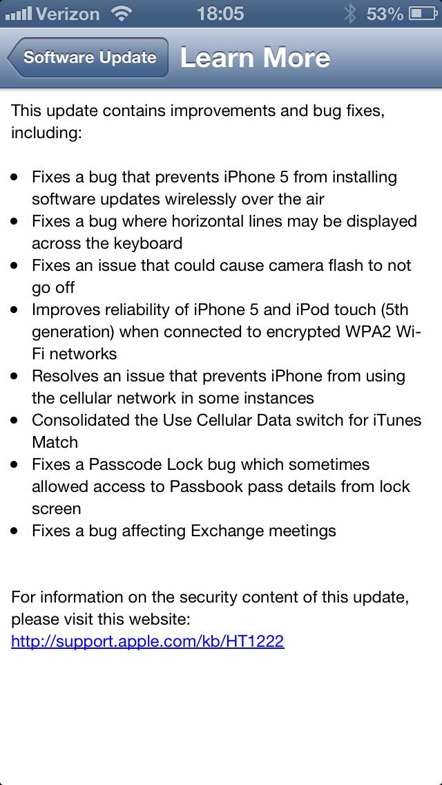 Change/Fix log