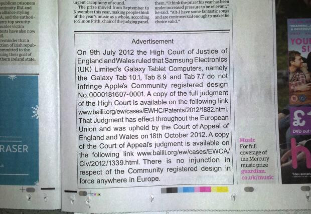 Image courtesy of Tim Acheson - Apple pulls hypocritical 'apology' to Samsung, replaces it with matter-of-fact statement