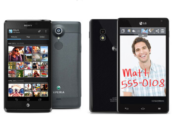 Xperia TL (left) and Optimus G (right)