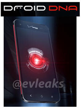 The HTC DROID DNA - New rendering of the HTC DROID DNA gets hearts pounding