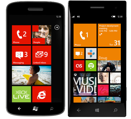 Live Tiles before (L) and after (R) - How Microsoft came up with the Windows Phone 8 Start and lock screens