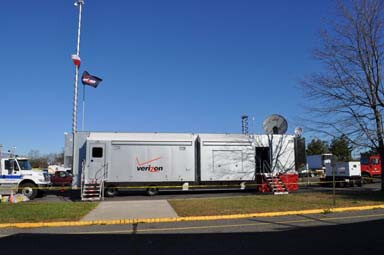 Verizon's mobile communications center - Watch video as Verizon allows those affected by the storm to stay in touch