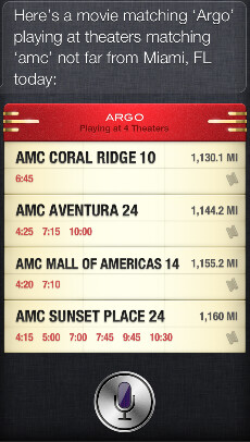Purchasing movie tickets with Siri on iOS 6.1