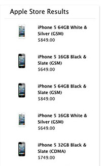 Are these the prices for the unlocked version of the Apple iPhone 5? - Possible factory unlocked Apple iPhone 5 prices show up on Apple website